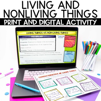 Living vs Nonliving Things Nonfiction Guided Reading Article and Activity