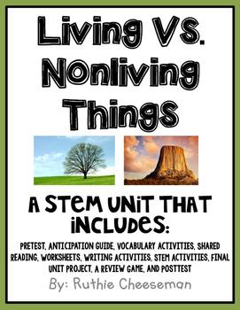 Living vs. Nonliving Things STEM Unit