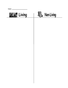 Living/Non-Living Sort
