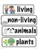 Living/Non-living Vocabulary Words (Plants, Animals, & Lif