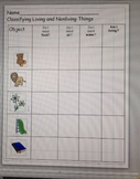 Living/Nonliving Classifying