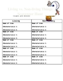 Living/Nonliving Things Scavenger Hunt Activity