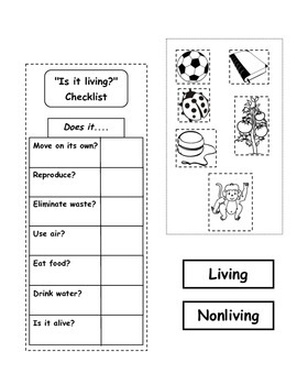 Living/Nonliving  and Basic Needs Lapbook