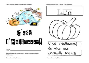 Livre-Histoire Halloween / Halloween Story book FRENCH