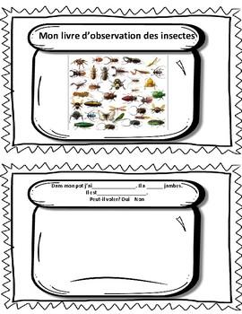 Livre d'observation-Observation book Les Insectes