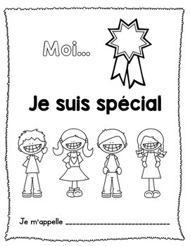 """Livret """"Me Voici""""/""""All About Me"""" French Booklet"""