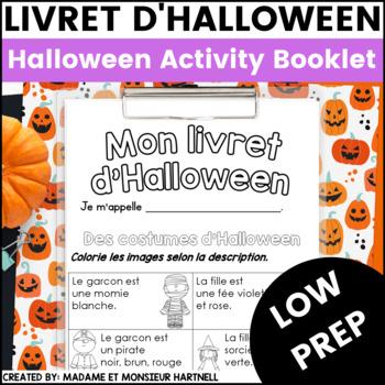Livret d'Halloween - French Halloween Activities