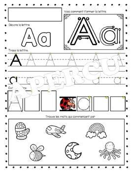 Livret d'alphabet
