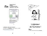 Livret de lecture : L'alphabet de l'automne  M-1 Immersion