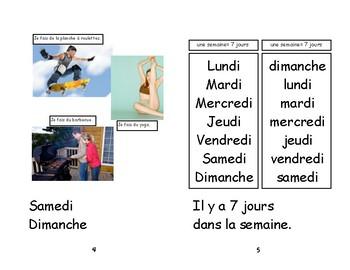 Livret de lecture Immersion : Les jours de la semaine chanté par Alain LeLait