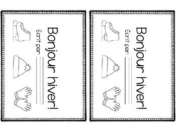 Livret de vocabulaire (vêtements d'hiver) - Vocabulary booklet (winter clothes)
