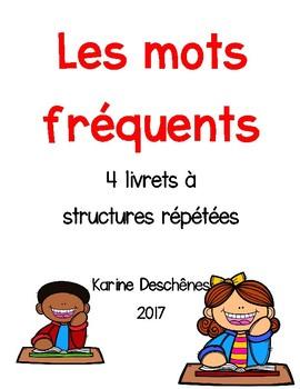 Livrets à structures répétées-Les mots fréquents