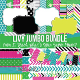 Livy Jumbo Bundle Papers and Clipart #retiringsets