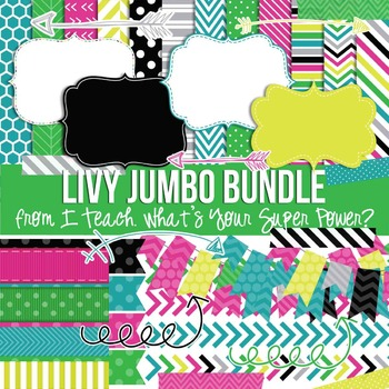Livy Jumbo Bundle Papers and Clipart