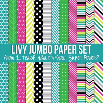 Livy Jumbo Set Digital Papers