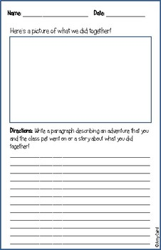 Lizard Class Pet Journal
