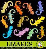 Lizard Clip Art - Wild Animal Silhouette Designs