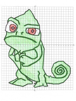 Chameleon Lizard Coordinate Graphing Picture