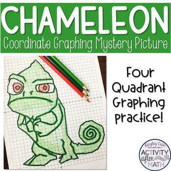 Lizard Coordinate Graphing Mystery Picture!
