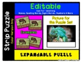 Lizard - Expandable & Editable Strip Puzzle with Multiple