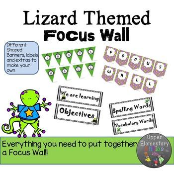 Focus Wall Editable Lizard Themed