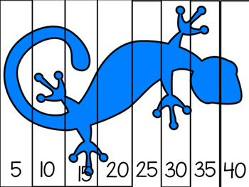 Lizard puzzles-skip counting