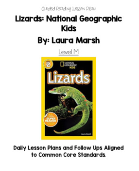 Lizards (Level M) Guided Reading Lesson Plan