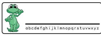 Lizards Theme Desk Nameplates (Set of Four)