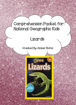 Lizards by Laura Marsh: Comprehension Questions