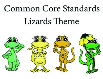 Lizardslizard 2nd grade English Common core standards posters