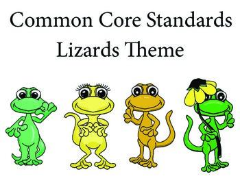 Lizardslizard Kindergarten English Common core standards posters