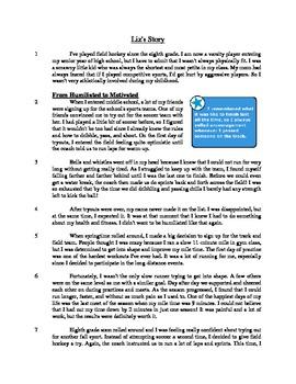 Liz's Story - Literary Text Test Prep