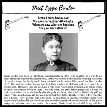 Lizzie Borden:  Infamous Murder Case Nonfiction Unit, Tone, Bias, Persuasion