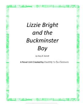 Lizzie Bright and Buckminster Boy Novel Unit Plus Grammar