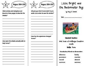 Lizzie Bright and the Buckminster Boy Trifold - Wonders 6th Grade Unit 3 Week 2