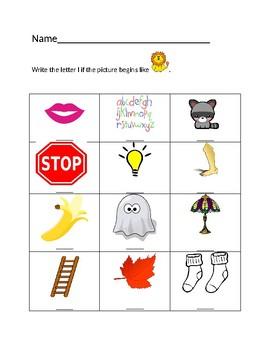 Ll Lion Homework Sheet #2