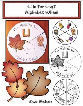 Alphabet Crafts: Alphabet Activities: Ll is for Leaf Alphabet Wheel
