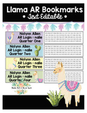 Llama  Accelerated Reader Bookmarks