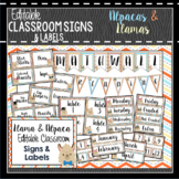Llama Classroom Decor, Signs and Labels: Editable, Alpaca