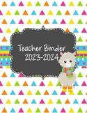 Llama/Alpaca Teacher Binder 2018-2019