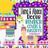 Llama & Alpaca Themed Binder Covers and Inserts *editable*