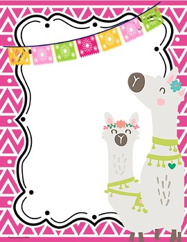 Llama & Alpaca Themed Binder Covers and Inserts *editable*