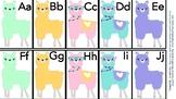 Llama Alphabet Flash Cards (Aa-Zz)