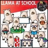 Llama At School Clip Art Set {Educlips Clipart}