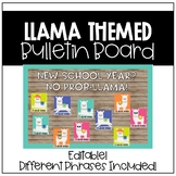Llama Bulletin Board (Back to School)