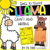 Llama Back to School Craft and Writing