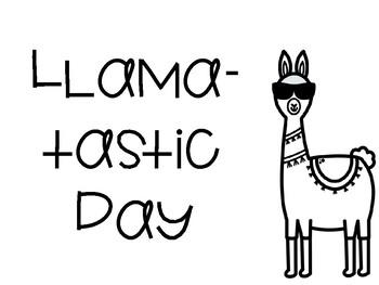 Llama Behavior Chart