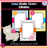 Llama Binder Covers (EDITABLES) | Portadas Editables