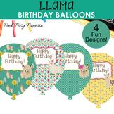 Llama Birthday Balloons