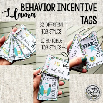 Llama Brag Tags - Editable